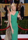 Jane Krakowski Wears Roland Mouret Gown at SAG Awards, January 2014
