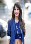 Jasmin Walia Street Style - Out & About in Essex - January 2014
