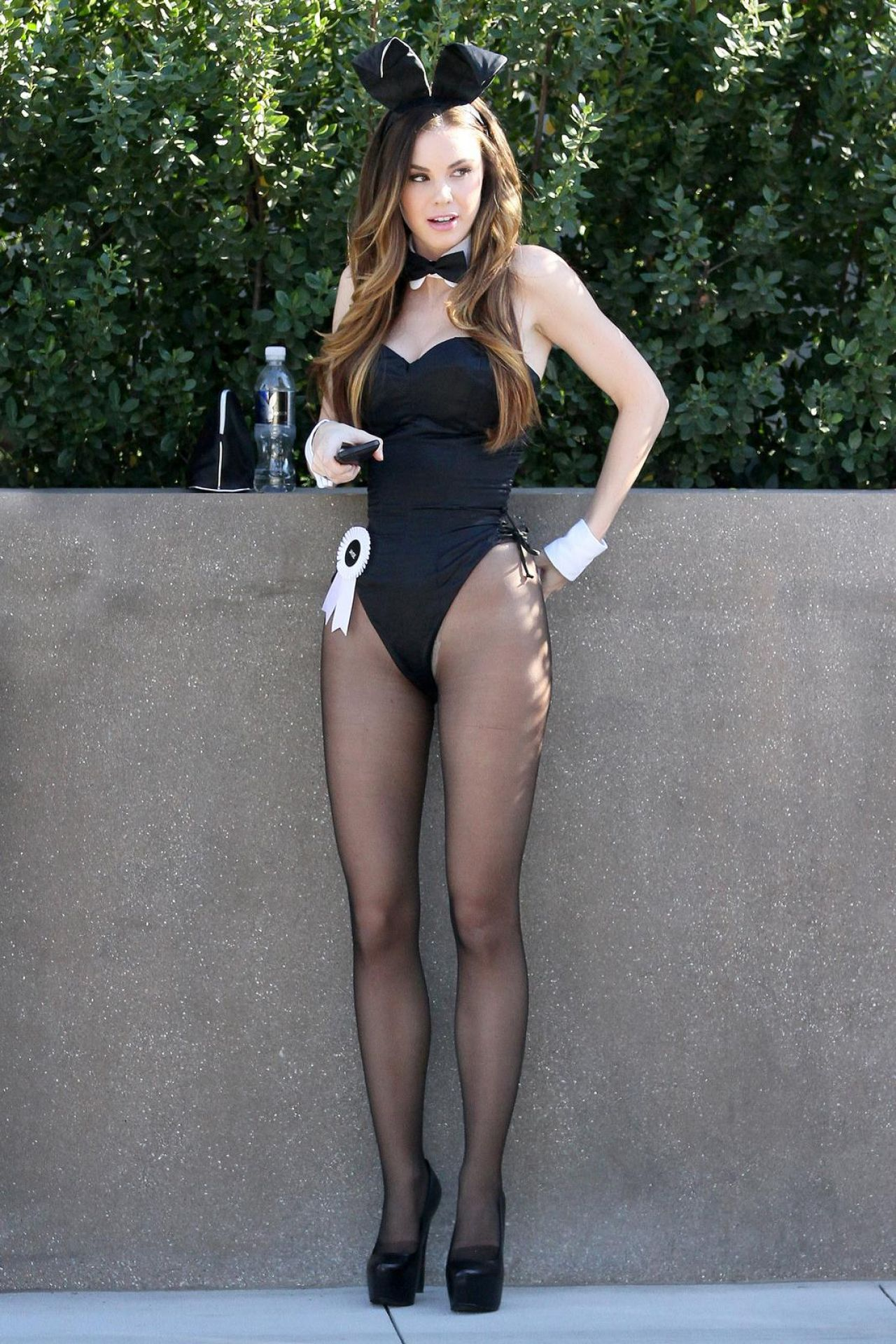 Jayde Nicole – Dressed as a Playboy Bunny, January 2014