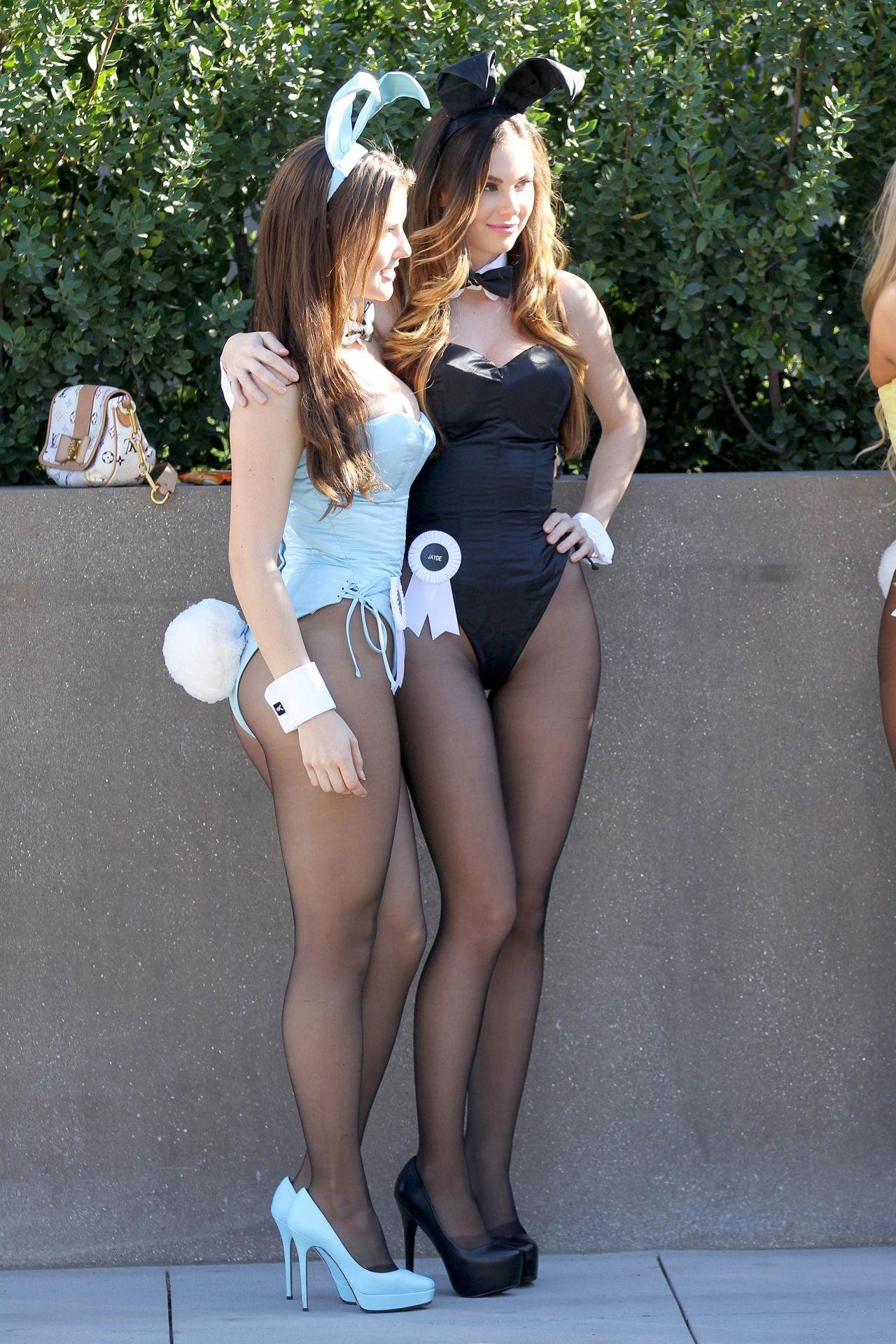 Jayde Nicole – Dressed as a Playboy Bunny, January 2014