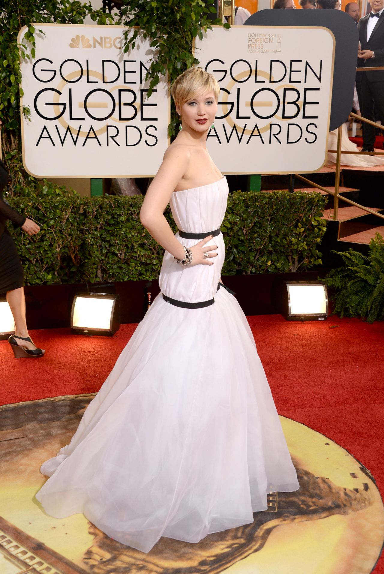 Jennifer Lawrence -  2014 Golden Globe Awards Red Carpet