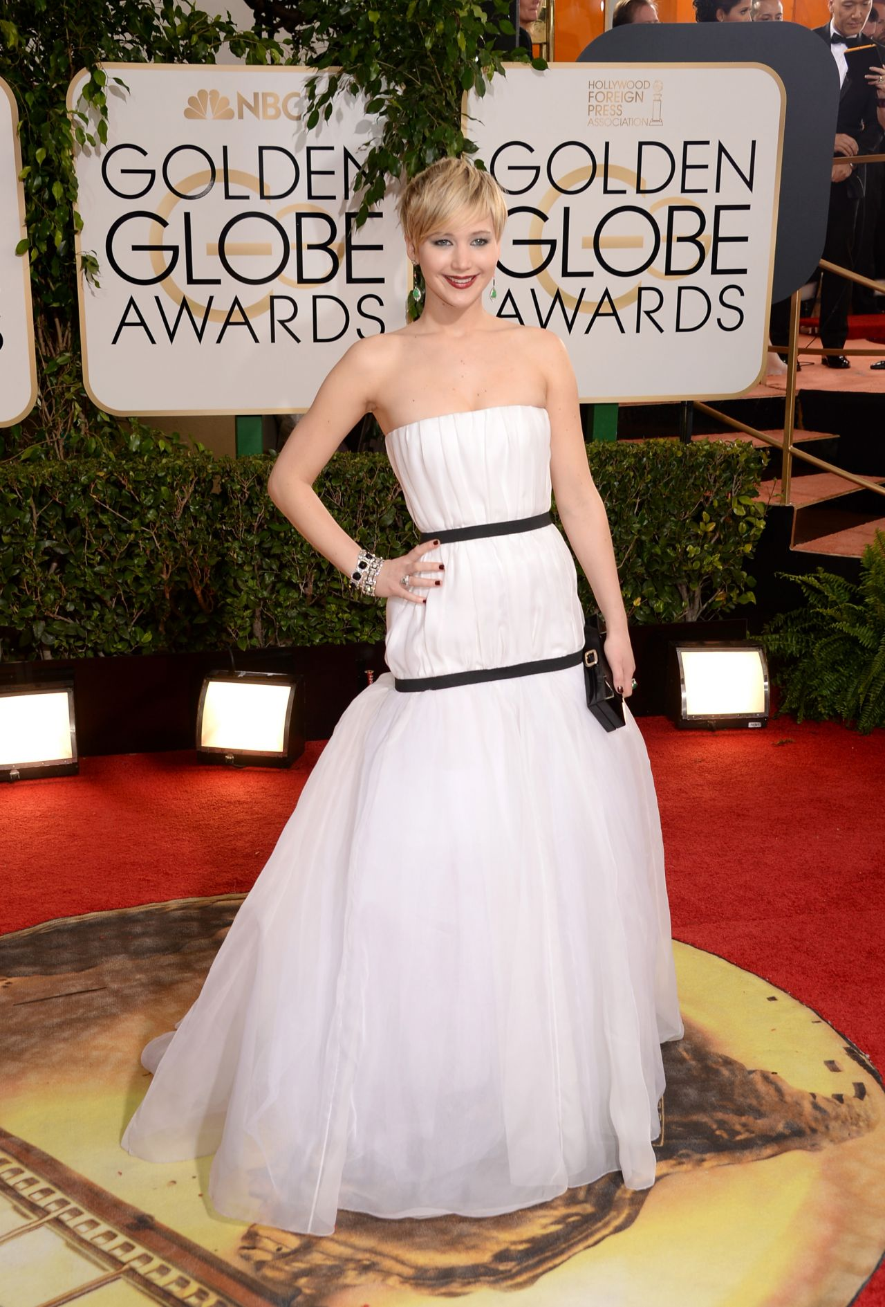 Jennifer Lawrence 2014 Golden Globe Awards Red Carpet