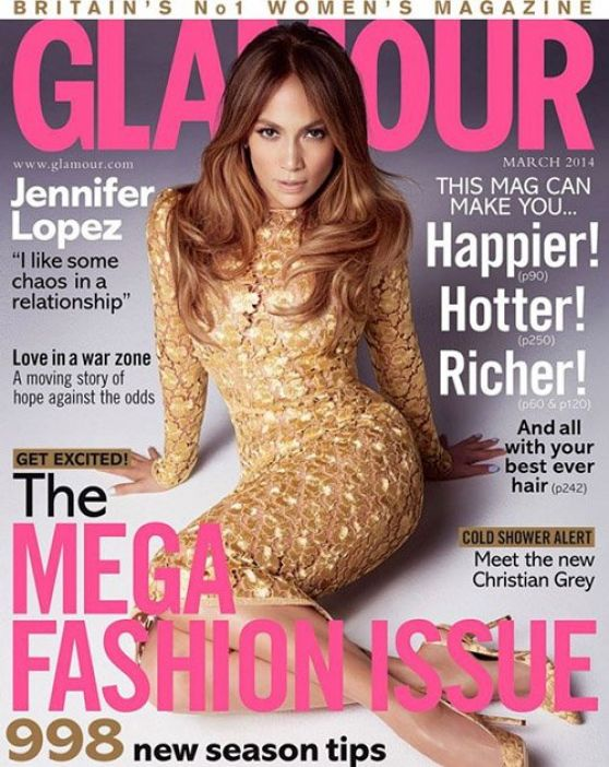 Jennifer Lopez - GLAMOUR Magazine (UK) - March 2014 Issue