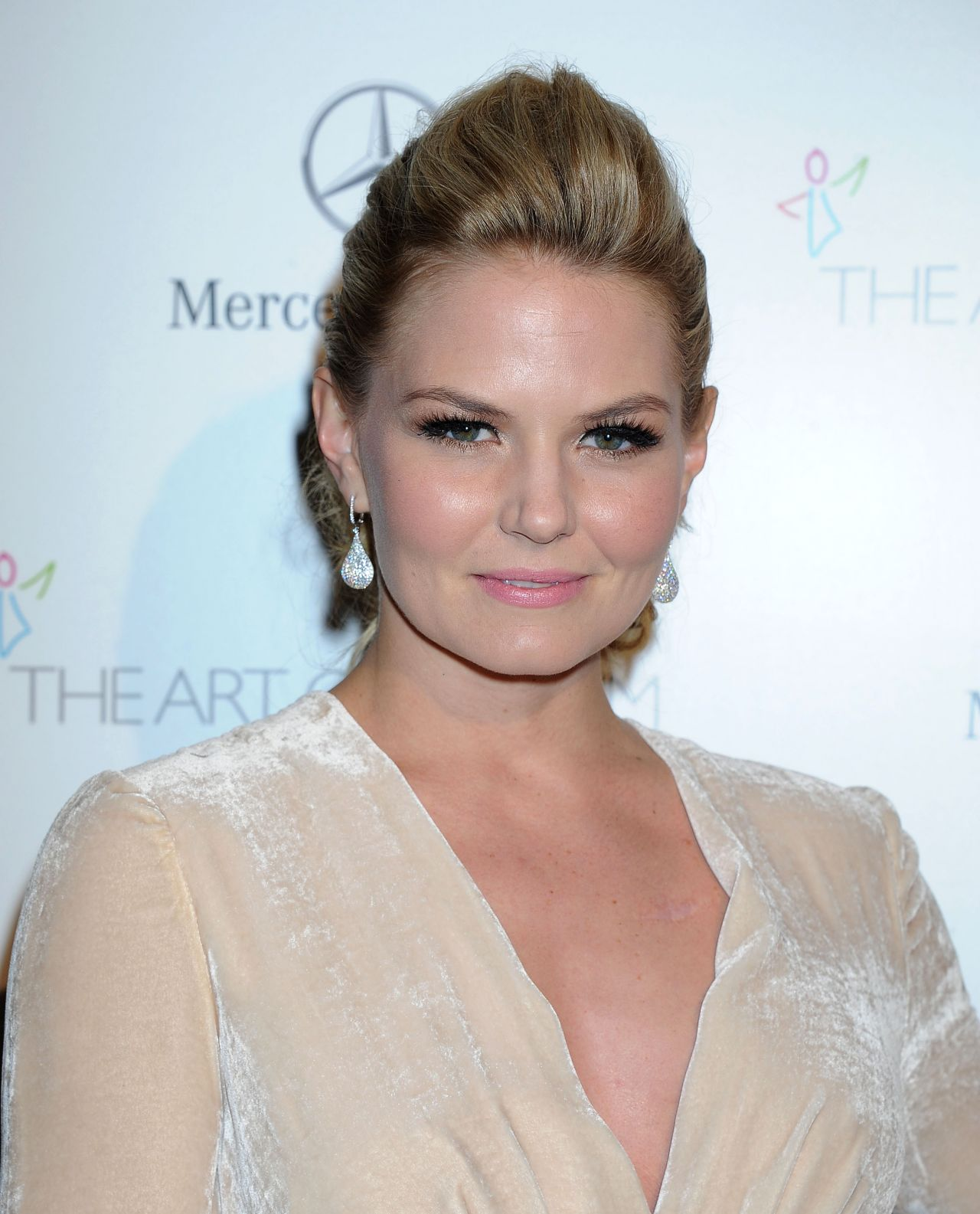 Jennifer Morrison Wears Elisabetta Franchi at Art of Elysium Heaven Gala, January 2014