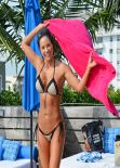 Jennifer Nicole Lee Bikini Candids - Miami, January 2014