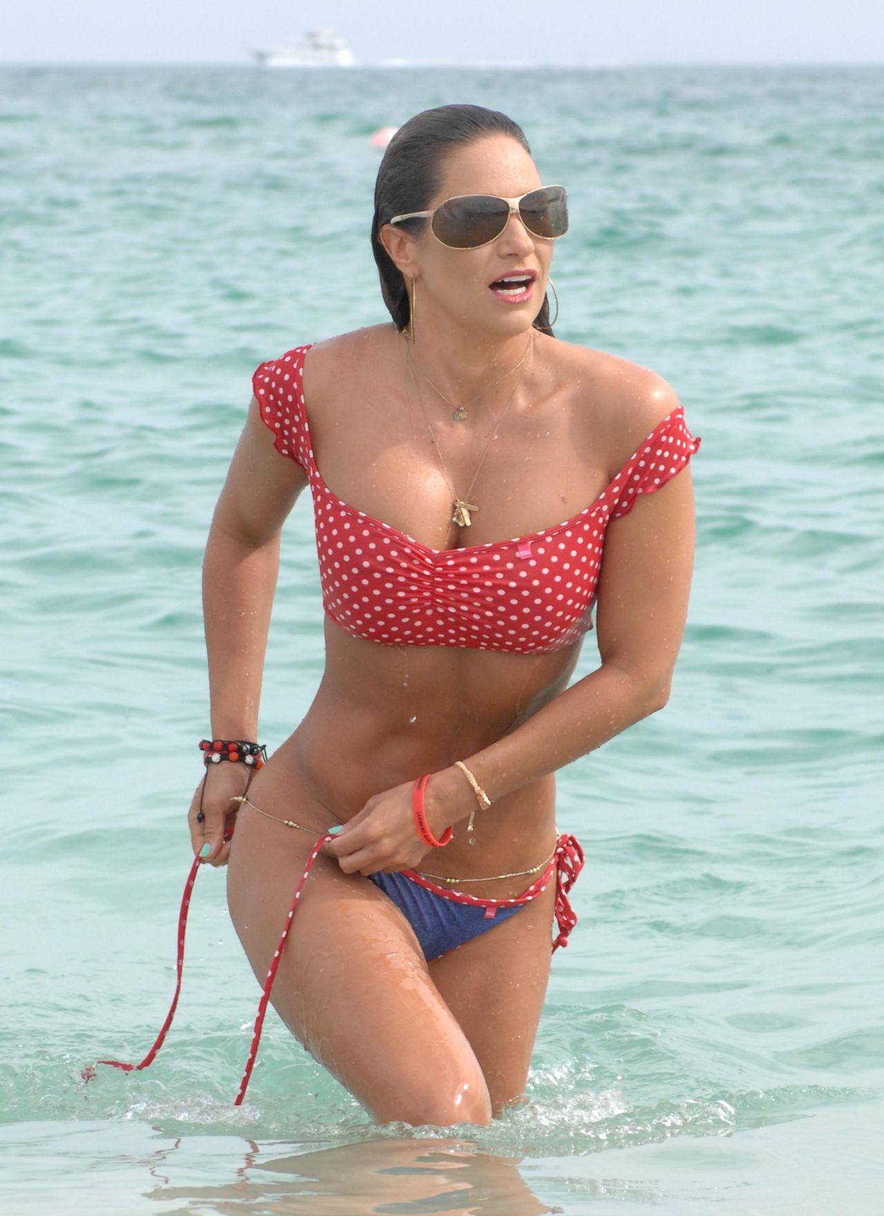 Jennifer Nicole Lee in a Bikini - at the Beach in Miami - January 2014