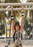 Jennifer Nicole Lee - Works out on the Beach in Miami - January 2014