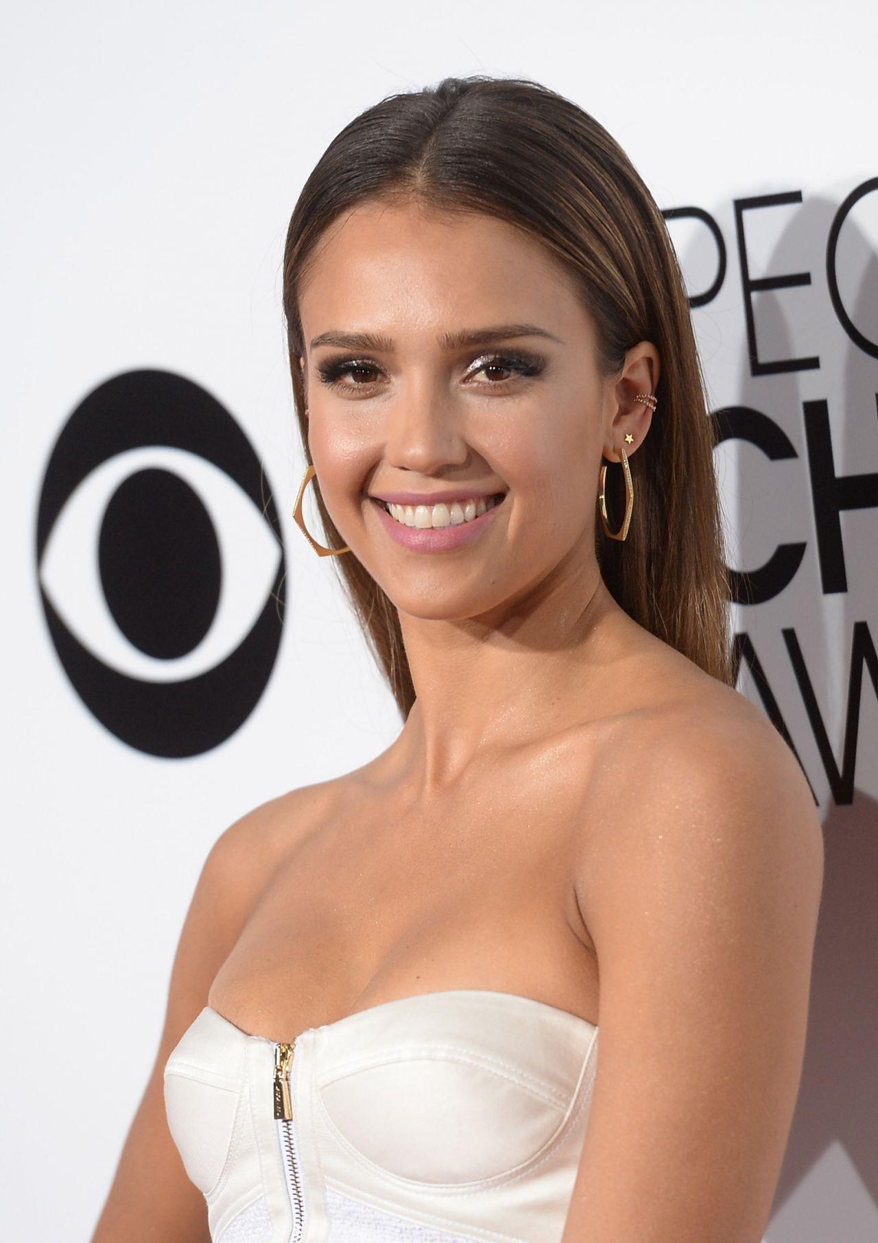 Jessica Alba In Jason Wu - 40th Annual People's Choice Awards in Los Angeles (2014)