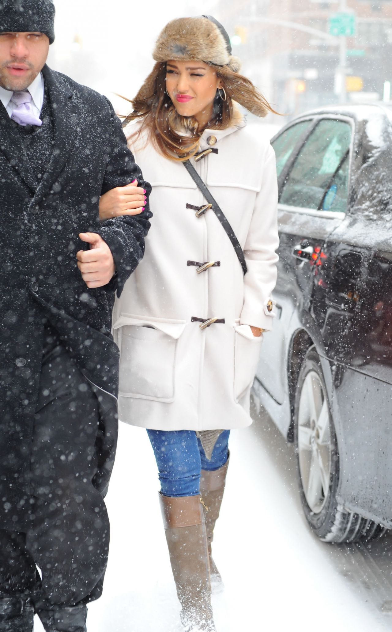 Jessica Alba Street Style Manhattan New York City