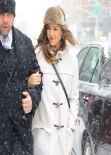 Jessica Alba Street Style - Manhattan - New York City - January 2014