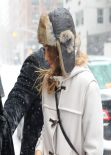 Jessica Alba Street Style - Manhattan - New York City - January 2014