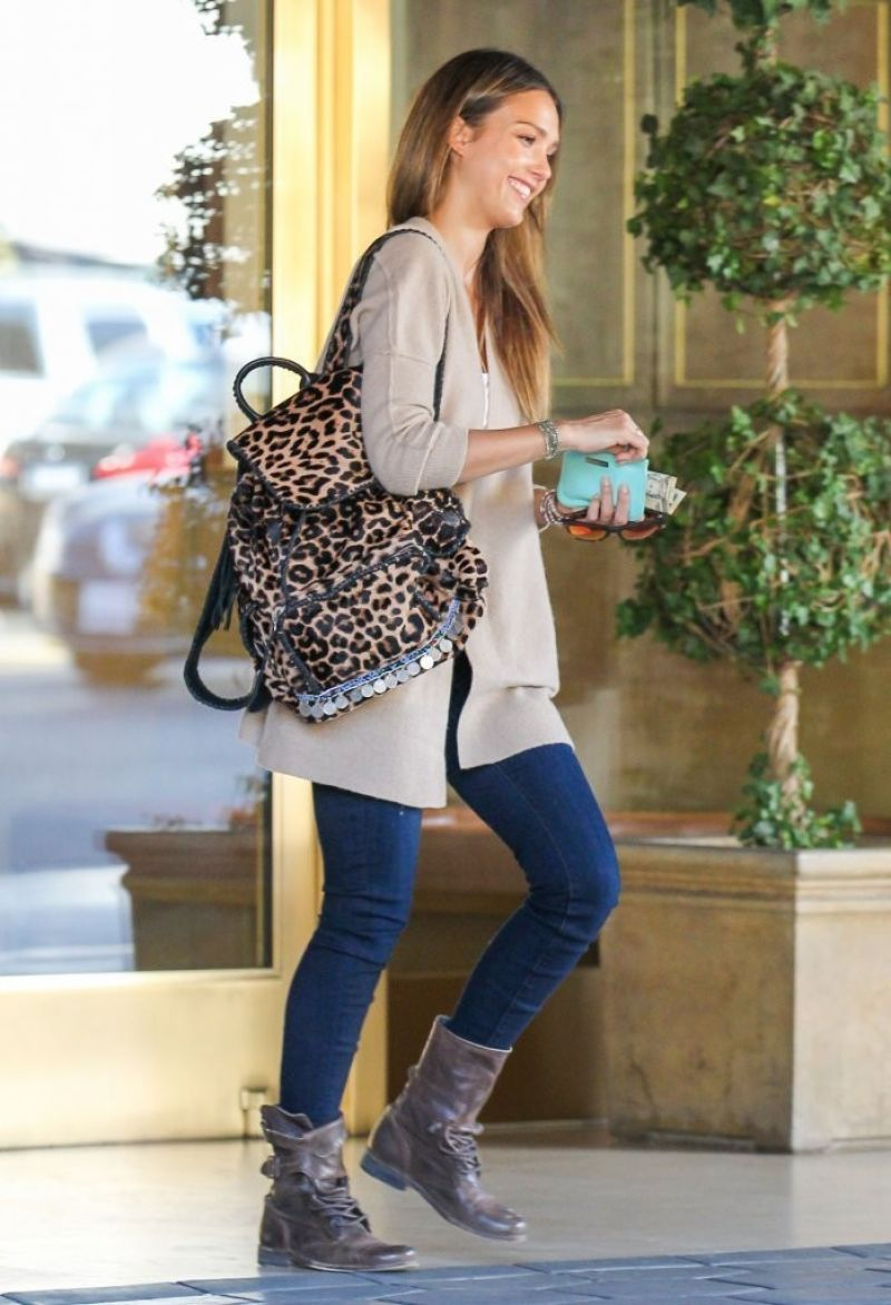 Jessica Alba Street Style Out In West Hollywood January