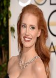 Jessica Chastain at 71st Annual Golden Globe Awards in Beverly Hills