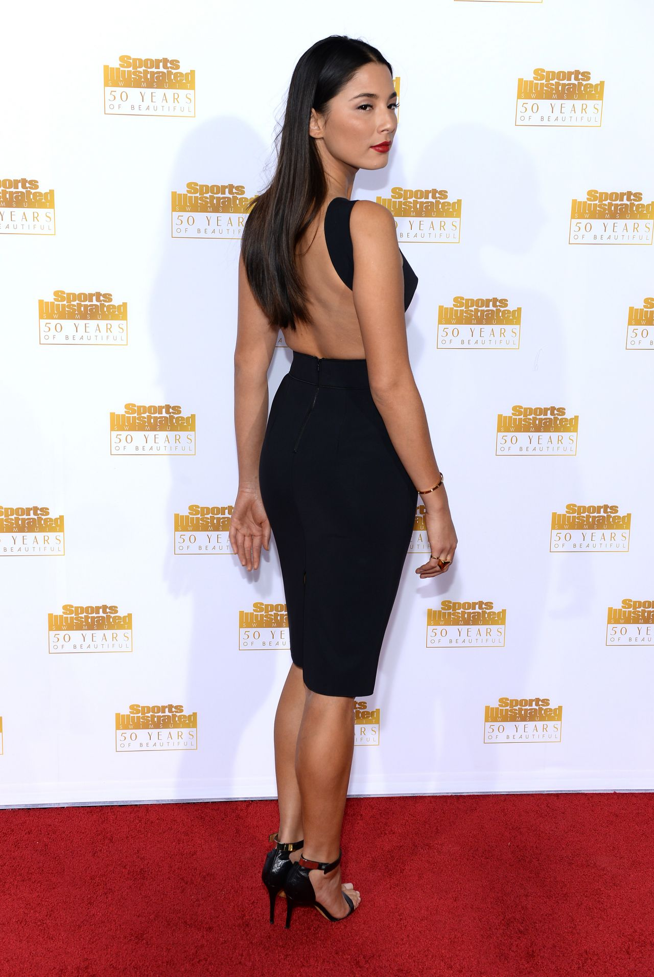 Jessica Gomes Red Carpet Photos - 50th Anniversary of the SI Swimsuit Issue in Hollywood, Jan. 2014