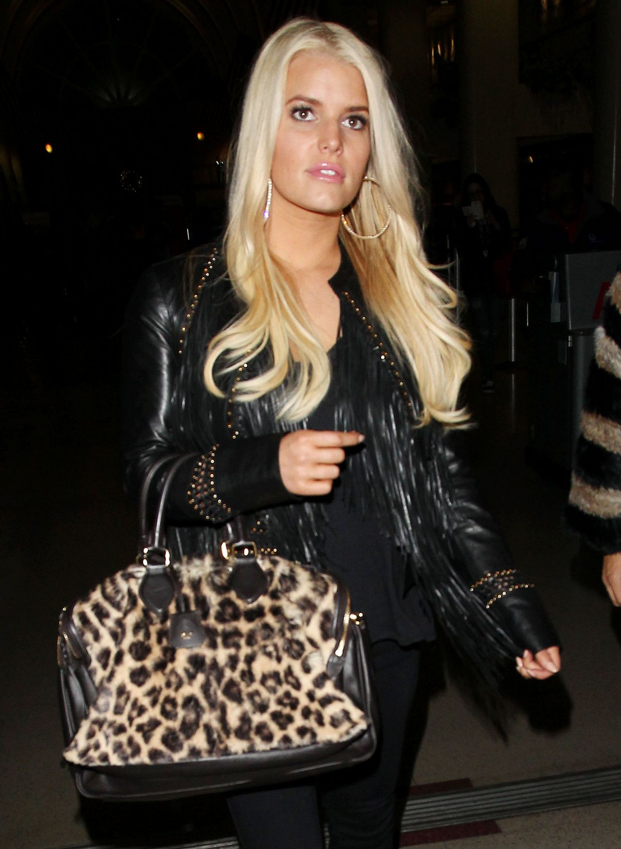 Jessica Simpson at the Los Angeles International Airport - January 2014