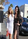 Joanna Krupa and Joyce Giraud Lunch Together at Ll Pastaio in Beverly Hills, January 2014