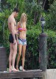 Joanna Krupa in a Bikini Top - Miami - January 2014