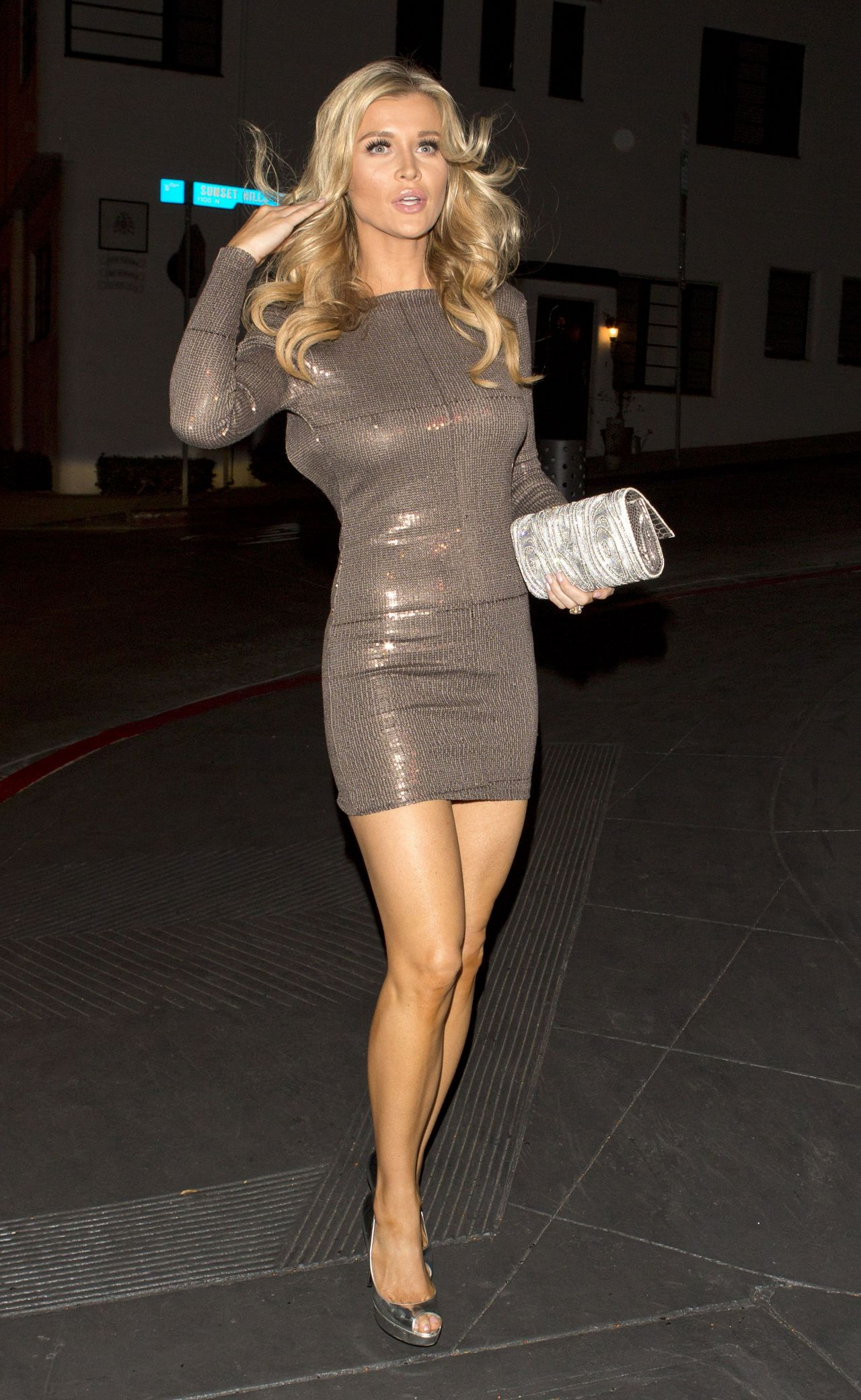 Joanna Krupa in Skintight Dress In West Hollywood ...