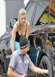 Joanna Krupa in Tights at a Miami Gas Station - January 2014