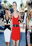 Joanna Krupa Street Style - Il Pastaio in Beverly Hills, January 2014