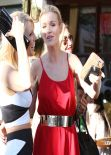 Joanna Krupa Street Style - Lunch With Friends at Il Pastaio in Beverly Hills - January 2014
