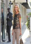 Joanna Krupa Street Style - Out For shopping in Beverly Hills - January 2014