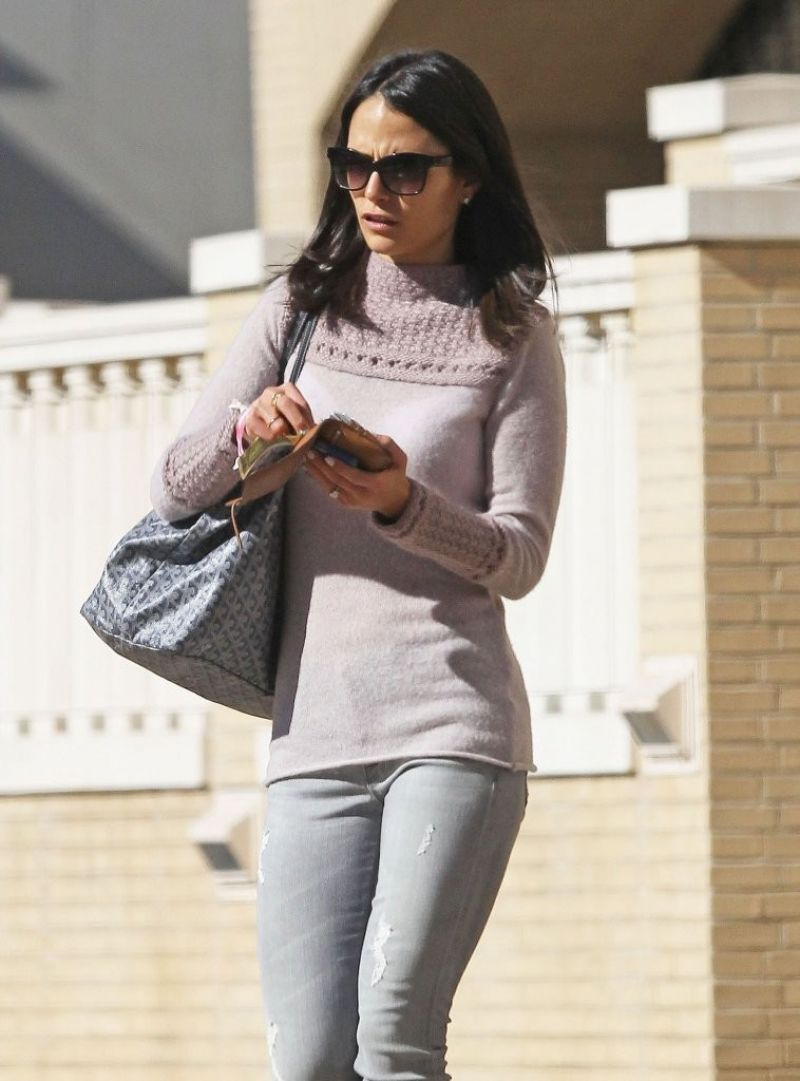 Jordana Brewster Street Style - Out in Beverly Hills, January 2014