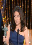 Julia Louis-Dreyfus Wears Monique Lhuillier at 2014 SAG Awards