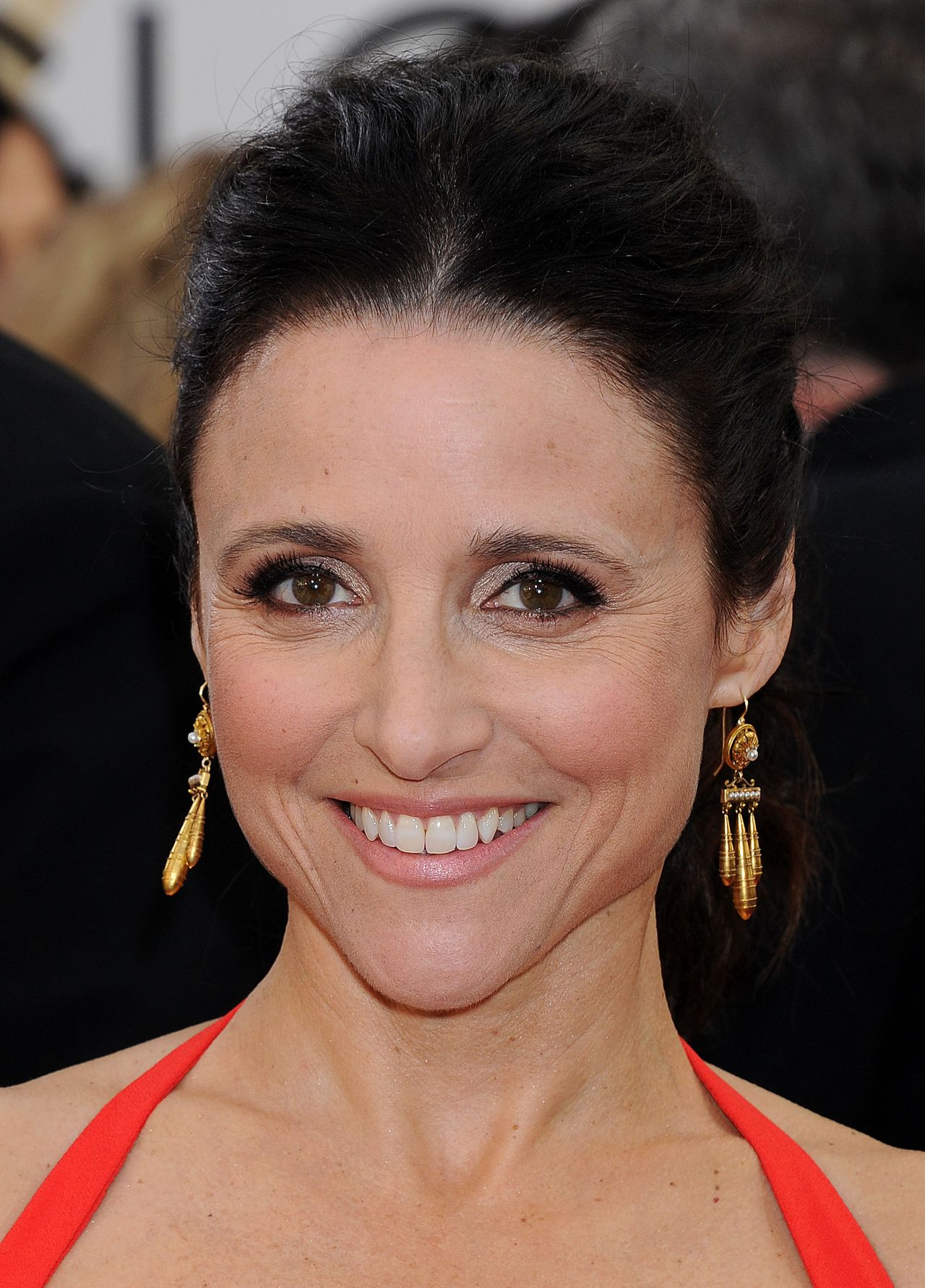 Julia Louis Dreyfus Wears Narciso Rodriguez At 2014 Golden