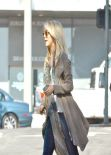 Julianne Hough Street Style - In Jeans - Out for Lunch in Beverly Hills. January 2014