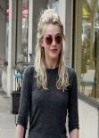 Julianne Hough Street Style - Leaves a Restaurant After Having Lunch With Friends - January 2014