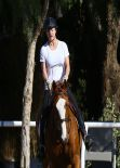 Kaley Cuoco - Horseback Riding in Moorpark - January 2014