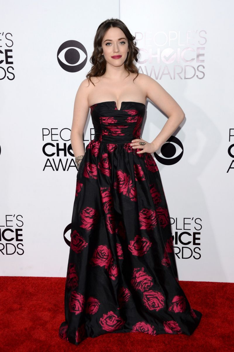 Kat Dennings in David Meister – 2014 People's Choice Awards