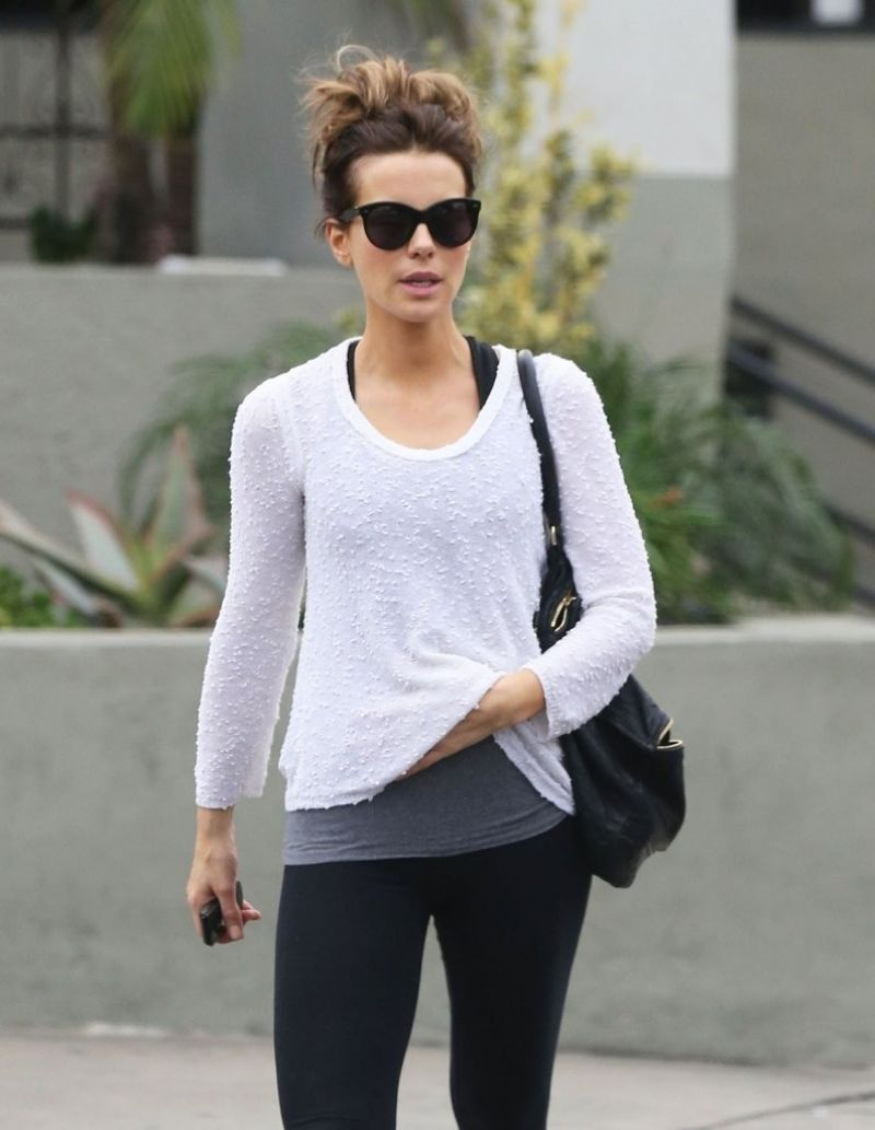Kate Beckinsale Street Style - Out in West Hollywood, January 2014