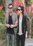 Kate Beckinsale Street Style - Out With Spouse Len Wiseman in Los Angeles - January 2014