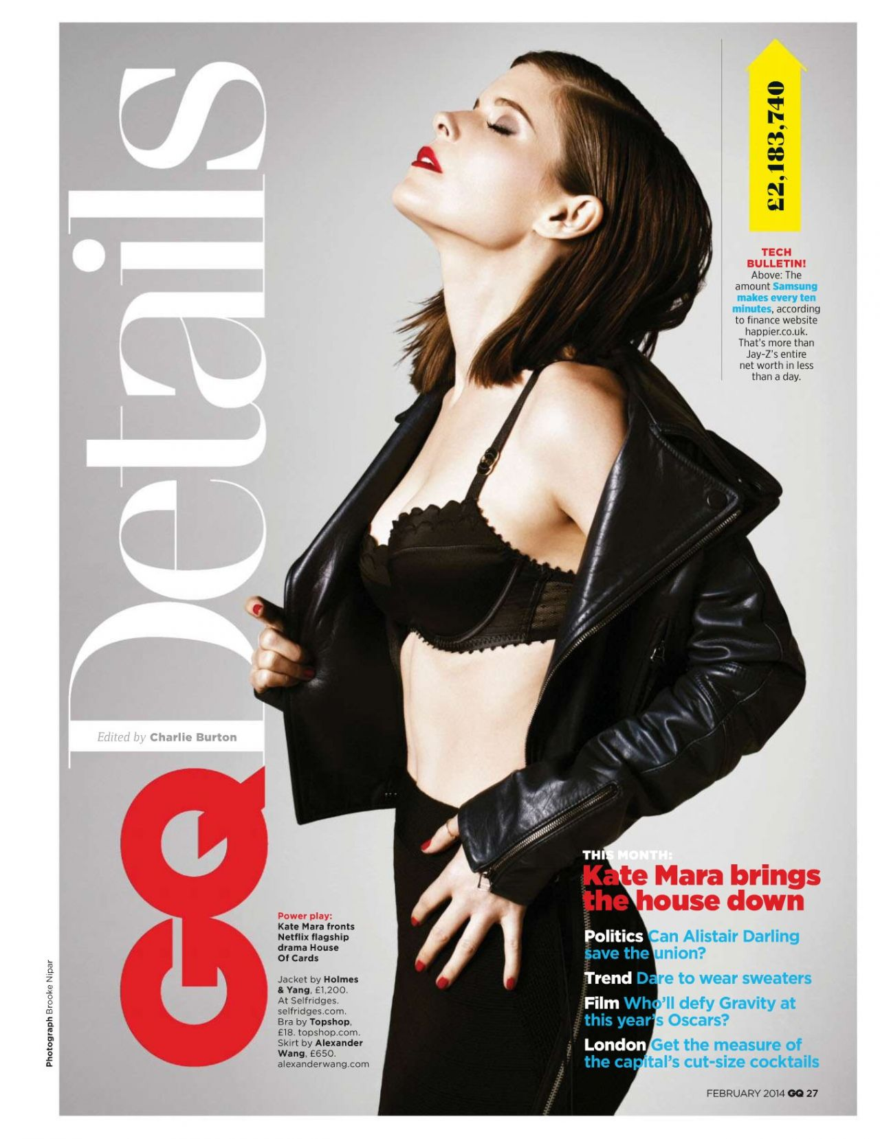 Kate Mara - GQ Magazine (UK) - February 2014 Issue
