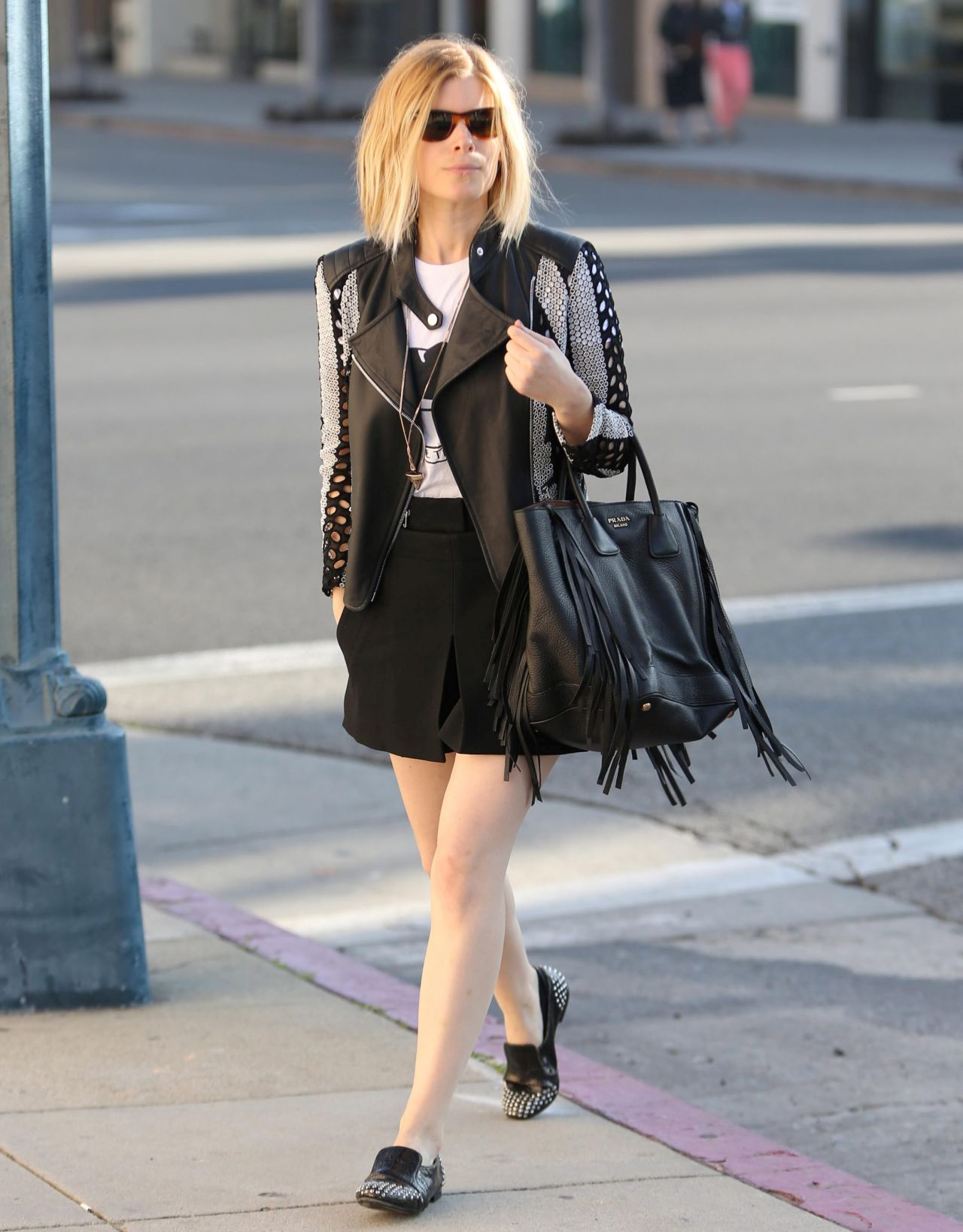 Kate Mara In Short Skirt Rodeo Drive In Beverly Hills