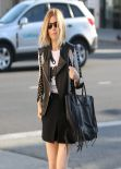 Kate Mara in Short Skirt - Rodeo Drive in Beverly Hills - January 2014