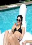 Katharine McPhee in a Bikini at a Pool in Palm Springs (2014)