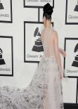 Katy Perry Wears Valentino Couture at 56th Annual Grammy Awards