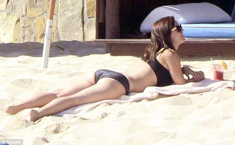 Christina milian on beach in miami
