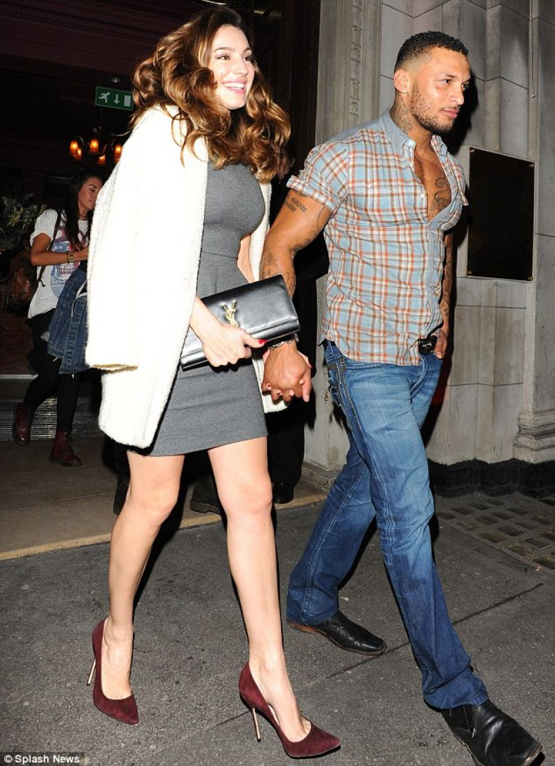 Kelly Brook Night Out Style - in Skintight Ddress - Steam and Rye Bar in London, January 2014