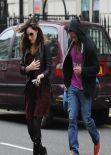 Kelly Brook Street Style - London - January 2014