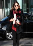 Kelly Brook Street Style -  London January 8, 2014