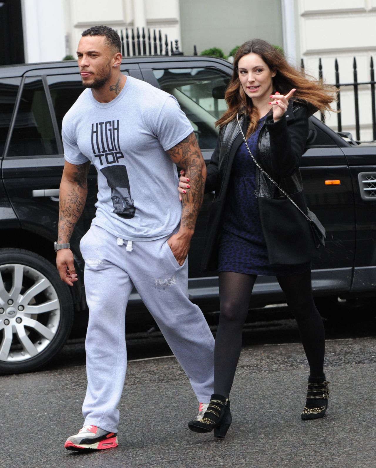 Kelly Brook Street Style - Out in London, January 2014