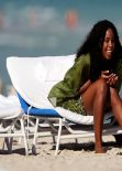 Kelly Rowland - Wearing a bikini Miami, January 2014