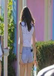 Kendall Jenner - Candids from Photoshoot at the Pink Motel in Sun Valley, January 2014