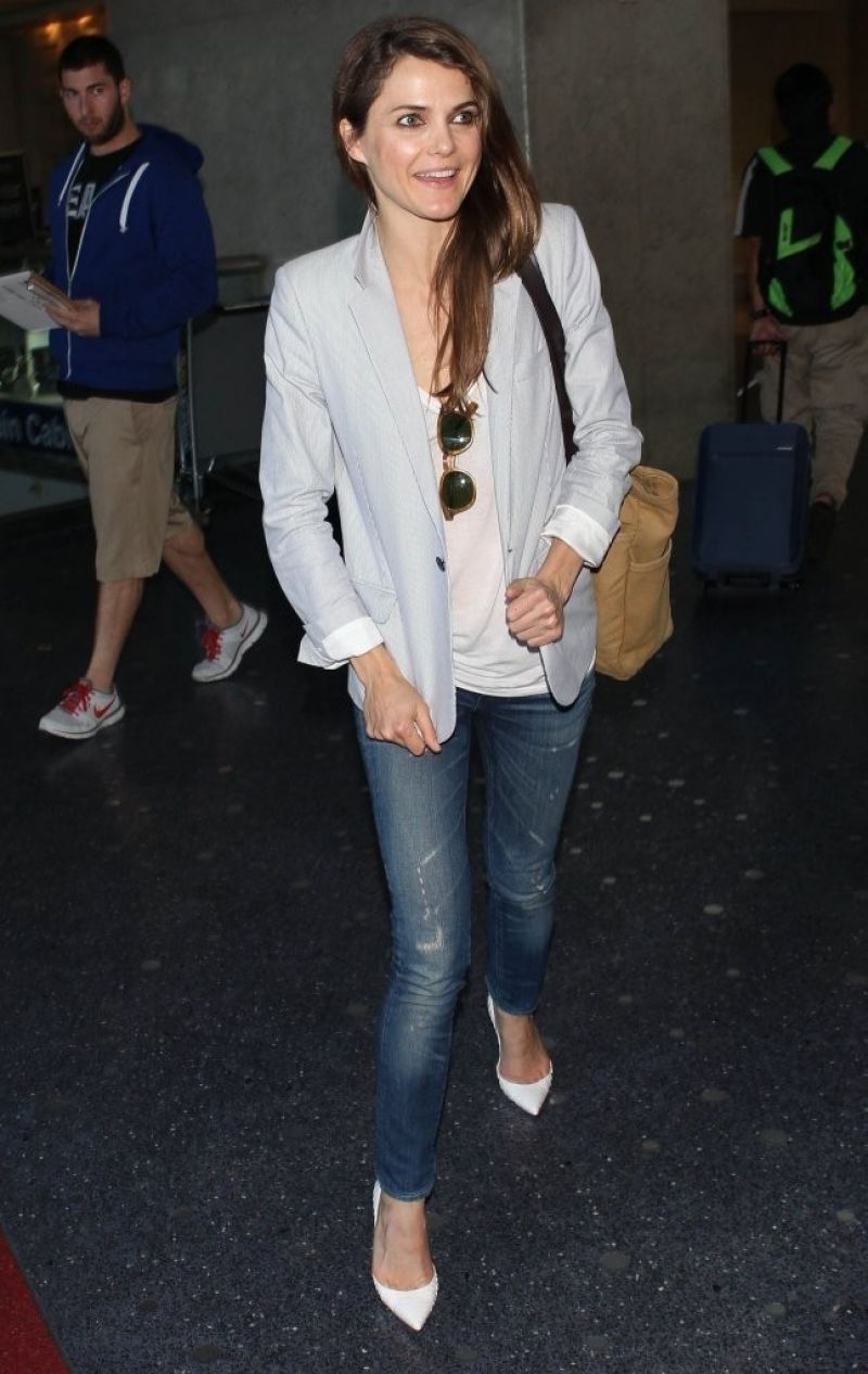 Keri Russell Street Style - LAX Airport, January 2014