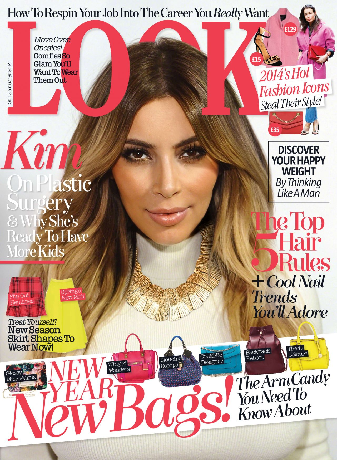 Kim Kardashian - LOOK Magazine - January 13, 2014 Cover