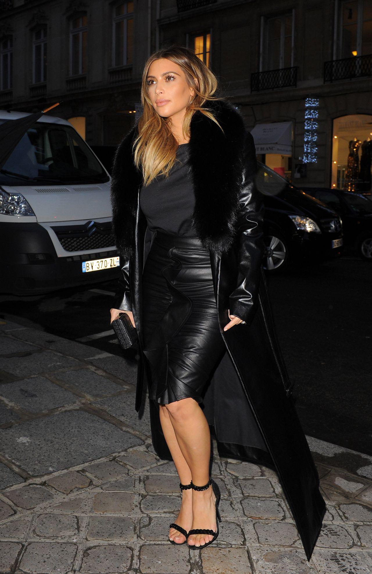 Kim Kardashian O Amp A In Paris Shopping January 2014